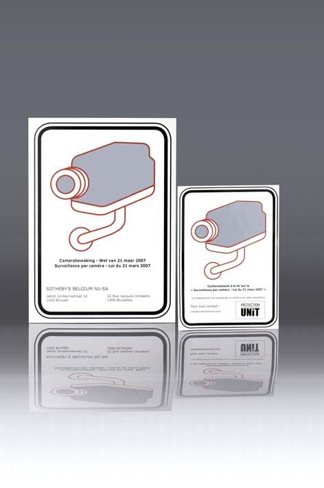 vente de pictogramme autocollant camera de video surveillance belgique