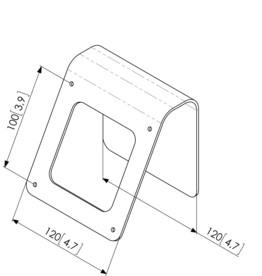 Support métallique pour ipad