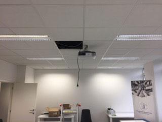 Placement Projecteur vidéo au plafond