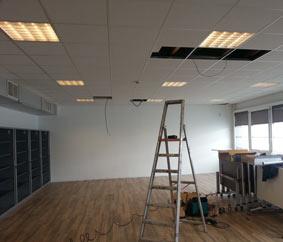 Démontage faux plafond